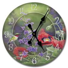 Nature's Beauty 12 inch Wood Clock