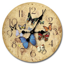 Flutter By 12 inch Wood Clock