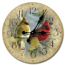 Feathered Friends 12 inch Wood Clock