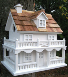Colonial Cottage Birdhouse White