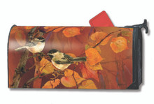 Autumn Chickadees Mailwrap