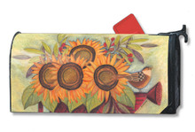 Sunflowers and Sparrows MailWrap