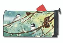 Chickadees & Pine Mailwrap