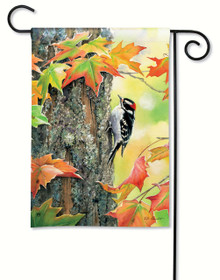 Woodpecker Garden Flag