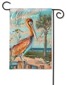 Pelican Perch Garden Flag
