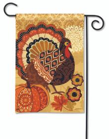Turkey Time Garden Flag