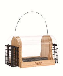 Bamboo 4 Qt Hopper Seed and Suet Feeder