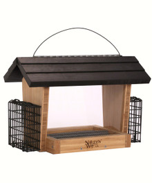 Bamboo 6 Qt Hopper Seed and Suet Feeder