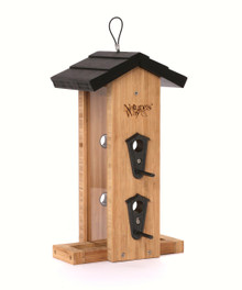 Bamboo Vertical Straight Feeder