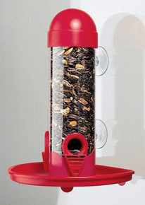 Window Tube Bird Feeder 8in.