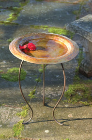 Golden Copperplated Birdbath