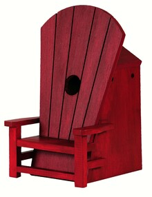 Adirondak Chair Birdhouse Red