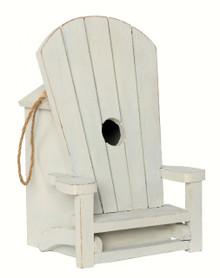 Adirondack Chair Birdhouse White