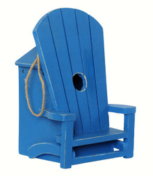 Adirondack Chair Birdhouse Blue
