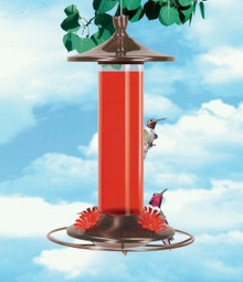 Glass and Metal Hummingbird Feeder