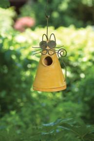 Cat Birdhouse Yellow