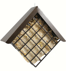 Diamond Suet Feeder Copper Hammertone