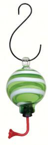 Green/White Swirl Sphere Hummingbird Fdr