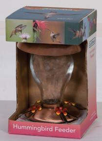 Premium Copper and Glass Hummingbird Fdr