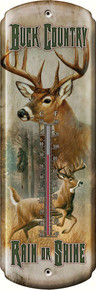 Buck Country Tin Thermometer