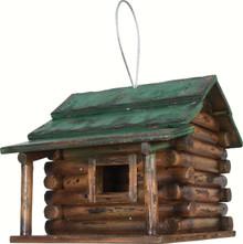 Wood Log Cabin Birdhouse
