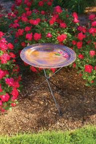 Ivy Copperplated Birdbath