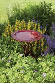 Ivy Red Birdbath