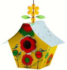 Retro Bird House Bloom Yellow