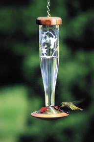 Crystal Etched HumBird Lantern