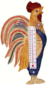 Country Rooster Large Window Thermometer