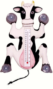 Climbing Cow Large Window Thermometer