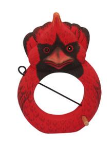 Cardinal Fruit or Birdseed Ball Birdfeeder