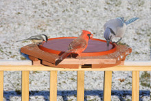 Cedar Heated Deck BirdBath