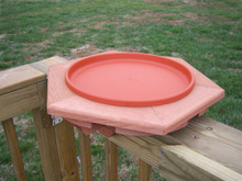 Cedar NON Heated BirdBath Deck Mount