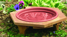 Mini Garden Bird Bath Clay Tray