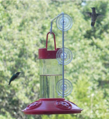 Dr. JB's 16 oz Hummingbird Feeder All Red w/SE077 Hanger