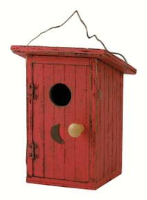 Birdie Loo Red Birdhouse