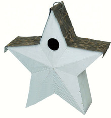 Country Star Birdhouse White
