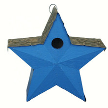 Country Star Birdhouse Blue