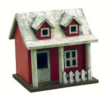 Picket Fence Cottage Birdhouse