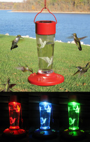 Solar Powered Color Changing Hummingbird Feeder