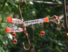 Whimsy Three Hummingbird Feeder