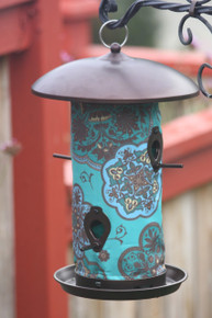 Blue Marrakesh Bird Feeder