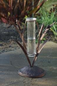Cattail Tabletop Rain Gauge