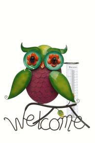 Rainbow Owl Tabletop Rain Gauge