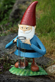Garden Gnome Tabletop Rain Gauge