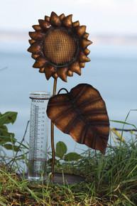 Sunflower Tabletop Rain Gauge