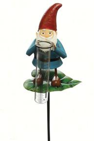 Garden Gnome Rain Gauge on Stake