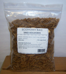 Unipeck's Economy Re-fill Bag: Dried Mealworms (By the Case) 6 Bags per Case