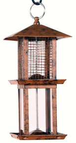 Double Tower Metal Seed Feeder